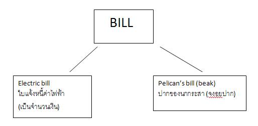 ความหมายของBill